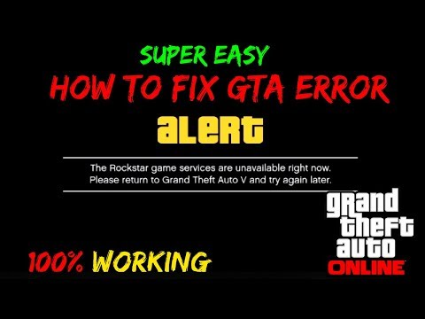 HOW TO FIX GTA ONLINE LOADING ERROR - Rockstar Game Services Unavailable