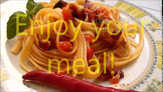 Spaghetti Amatriciana Recipe Authentic Italian Food #pasta