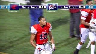 Jordan Pickney vs. Destrehan (8 rec., 160 yds, 2 TDs) - John Ehret 2019 WR