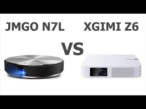 Jmgo N7L Vs Xgimi Z6 сравнение Full HD проекторов на DLP Led технологии.
