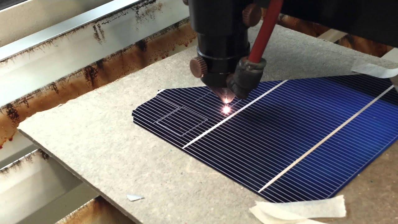 Prueba De Corte Laser Celdas Solares Youtube