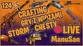 LIVE 124 ⚡ Crafting for Subs! Big Giveaway for 1500 Subów! Fortnite rescuing the World