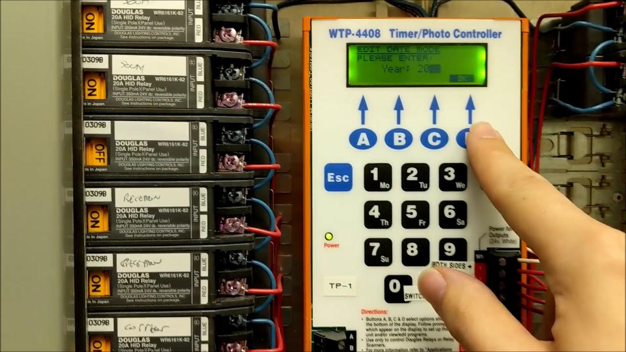 douglas lighting controls scanner system time clock programming