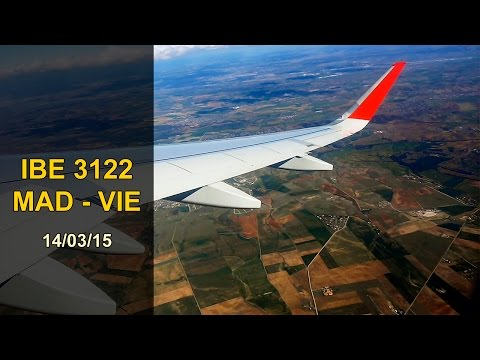 FULL FLIGHT   Madrid - Vienna   IBERIA A320 Sharklets