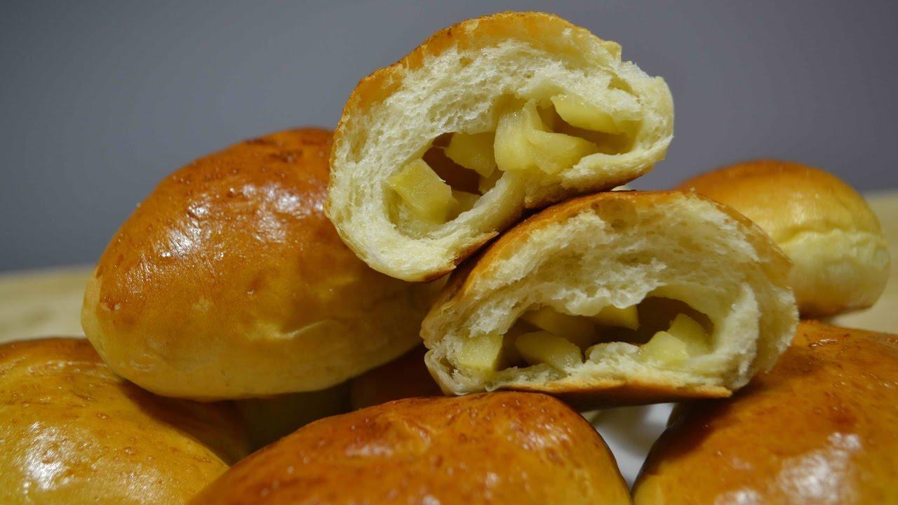 Пирожки из сдобного теста с яблоками