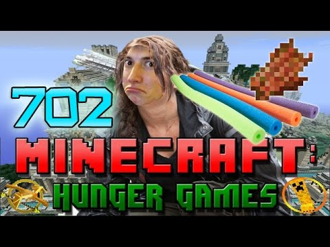 Minecraft: SO CLOSE TO DYING! Hunger Games w/Bajan Canadian! Game 702