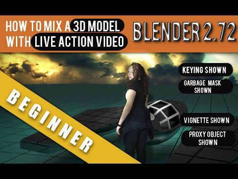 How to combine a 3d model with live action video in Blender 2.72b