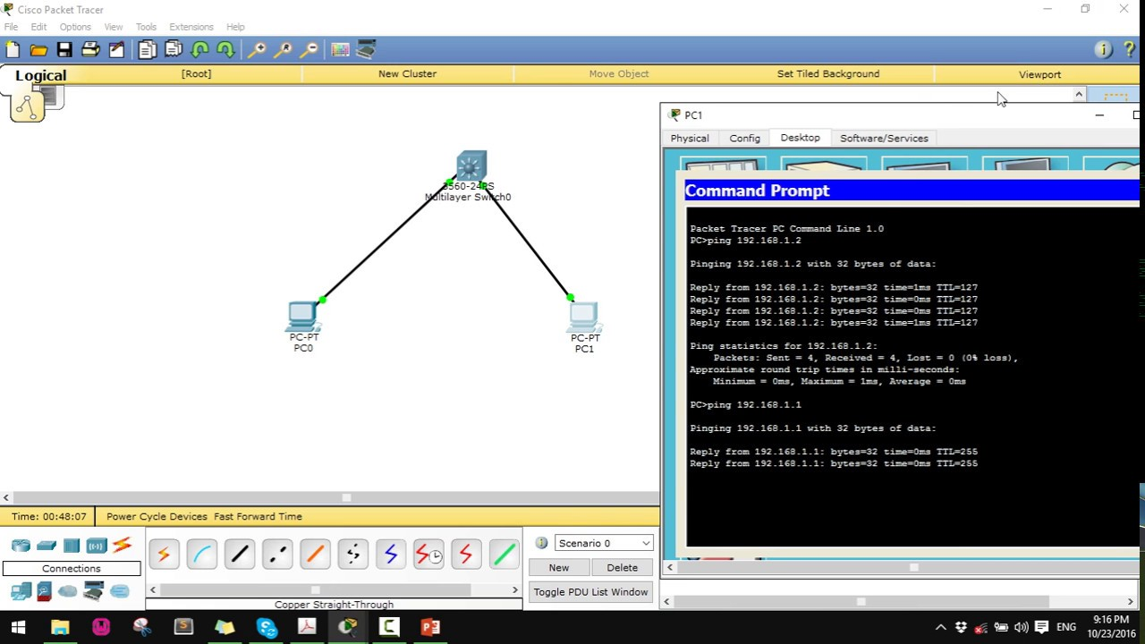 How to configure layer 3 switch using Cisco Packet Tracer [New 2016]