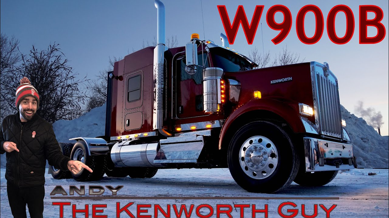 2019 KENWORTH W900B Flat Top Chrome Lights Shine - WATCH TO THE END