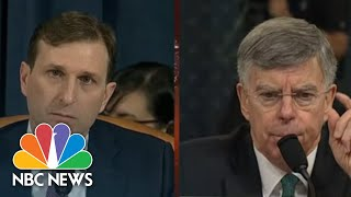 Bill Taylor: Sondland Meaning Of Stalemate Was 'Security Assistance Would Not Come' | NBC News