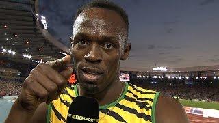 Usain Bolt's message for Gabby Logan - BBC Sport