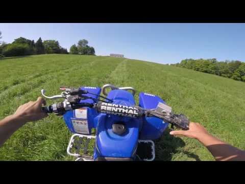 Riding new Yamaha Blaster