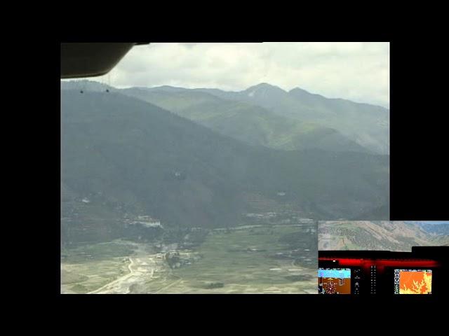 Most dangerous landings (you can do in your sim). Paro, Bhutan.