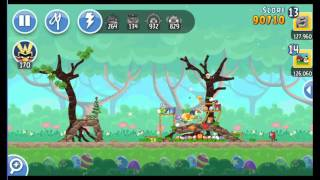 Angry Birds Friends Easter Tournament ● LEVEL 3 ● 141 K HD ● Week 202 ●  POWER UP