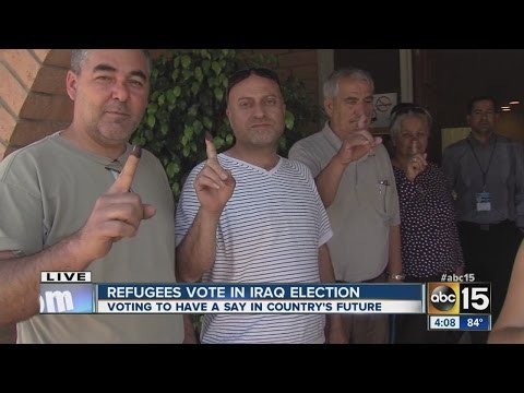 Refugees head to Phoenix to vote in Iraq election
