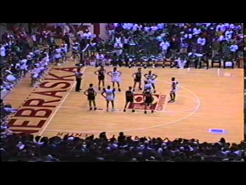 Nebraska Basketball State Final 1992 Hastings vs Omaha Benson