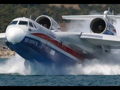 Самолет-амфибия БЕ-200. Летающая