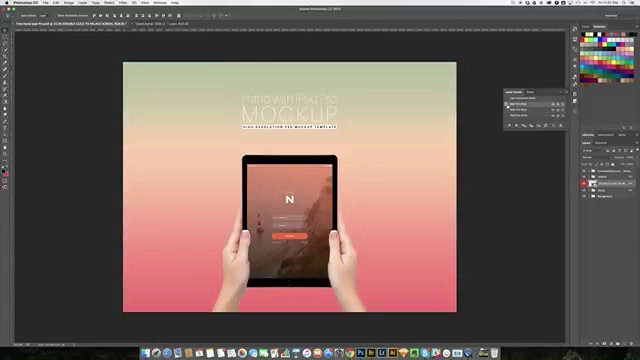 how to use smart object layer comps in hand with ipad pro psd