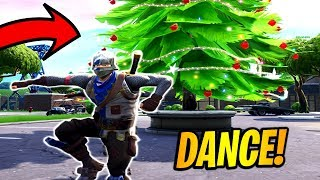 Dance in front of different Holiday Trees Locations! 14 Days of Fortnite Challenges