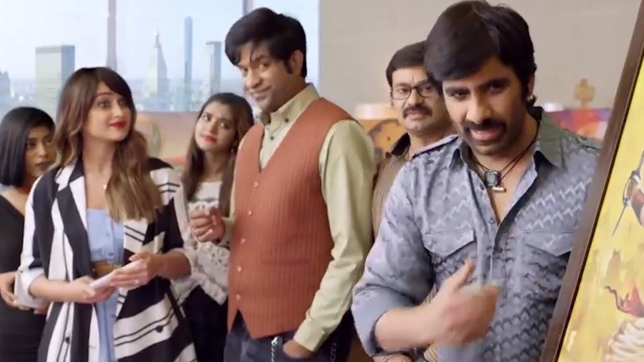 Ileana D'Cruz, Ravi Teja & Vennela Kishore Best Comedy Scene   Amar Akbhar Anothni Hindi Du