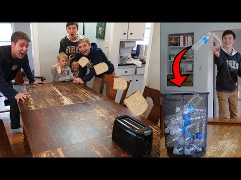 REAL LIFE TRICK SHOT WORLD RECORD BATTLE! Ft. That's Amazing