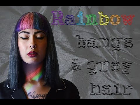 HOW TO : frange arc-en-ciel & cheveux gris ! | CANNIBALECORE