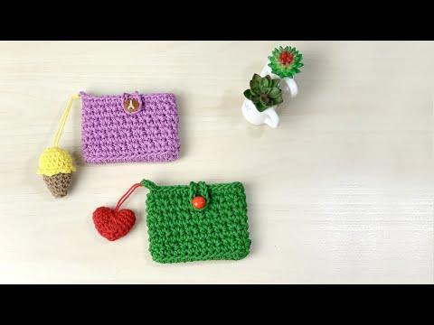 초보자도 쉽게 만드는 코바늘 카드지갑 뜨기, Crochet Card Holder/Wallet