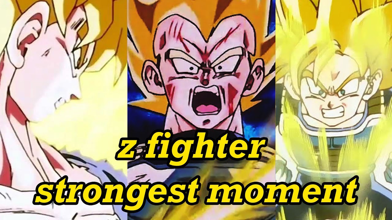 top 5 DBZ Momen Terkuat Z Fighter | Vegeta Pernah Jadi Yang Terkuat!