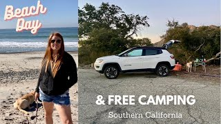 SUV Car Camping Iฑ Southern California + Beach Day! || Cleveland National Forest