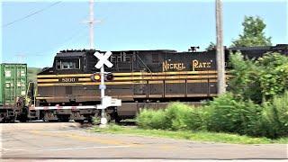 Nickel Plate Heritage Unit Train Meets BNSF Grain Train! Canadian Pacific Train w UP + DPU Alright!