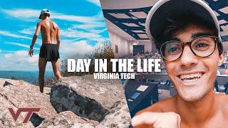 DAY IN THE LIFE at VIRGINIA TECH 🚌 + INSANE mountain RUN 🏔