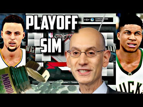 THE NBA ALLOWS USE OF STEROIDS IN 2018 PLAYOFF SIMUATION IN NBA2K17!!