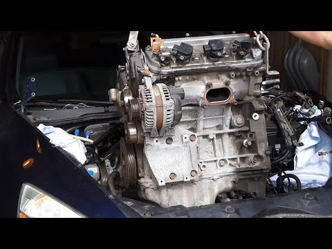 Honda Accord V6 3.0L Engine Swap Removal J30A4 (2003 - 2007)