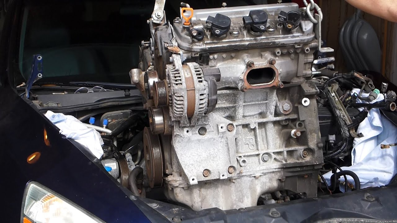 Honda Accord V6 3 0l Engine Swap Removal J30a4 2003 2007 Youtube Rh Youtube  Com 2001 Honda Accord Transmission Solenoid 2001 Honda Accord Transmission  ...