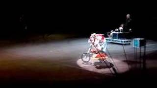 Dog Riding A Motorcyle At The Circus