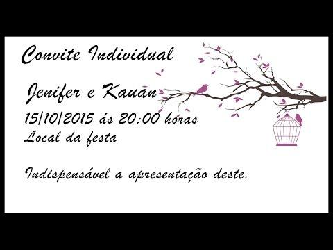 Como Fazer Convite De Casamento Individual No Word Youtube