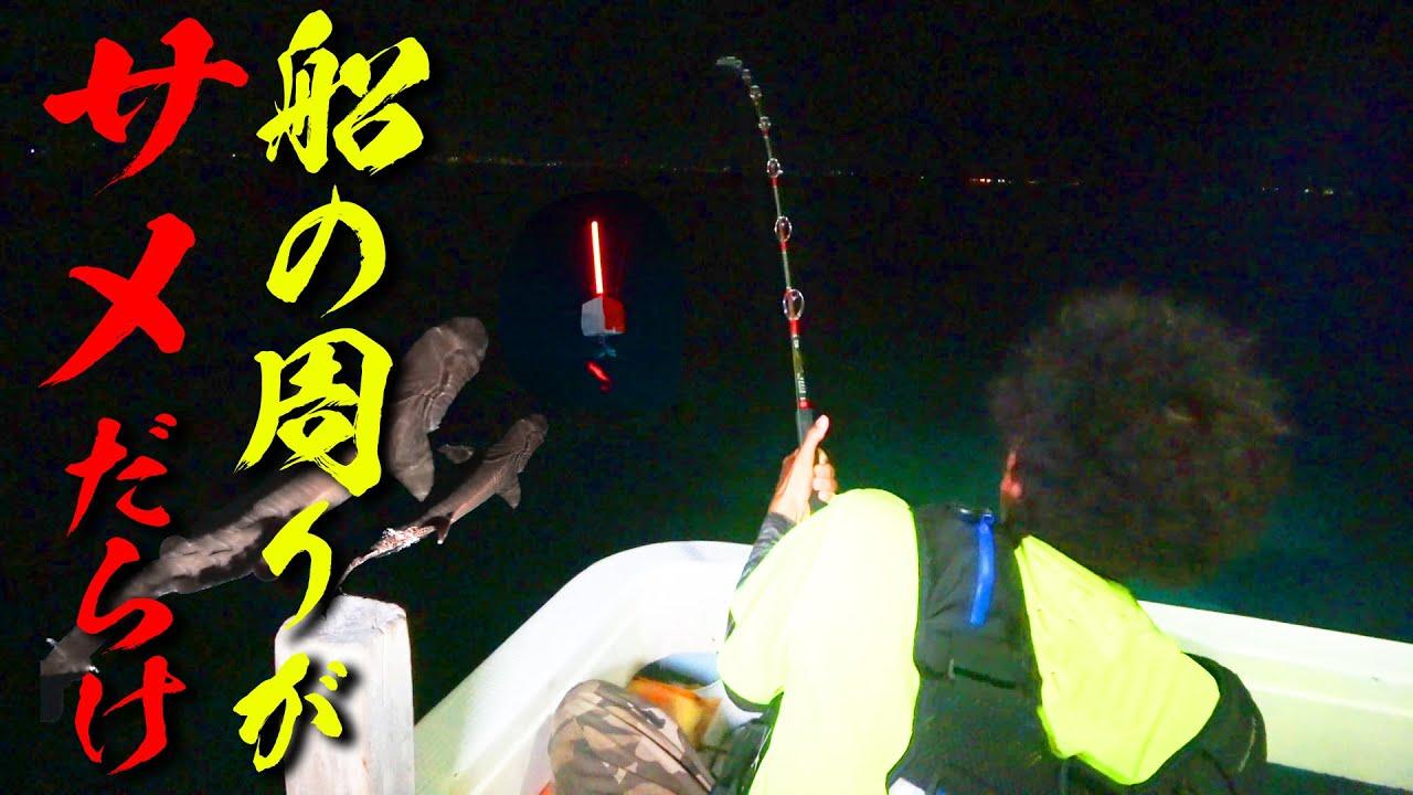 漁船がサメに囲まれてエサを食いまくる【久高島遠征2021夏 #4】
