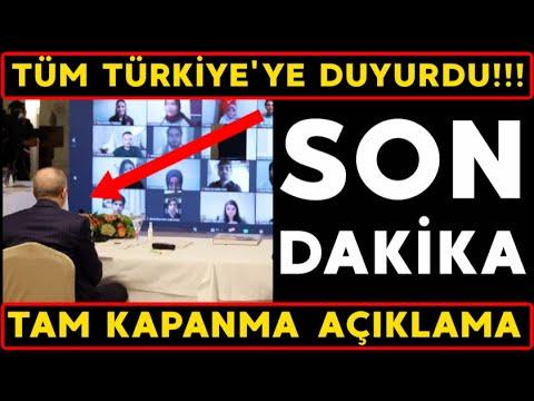 Son dakika! TAM KAPANMA Açıklaması Geldi! Tüm Türkiye'ye DUYURDU! Cumhurbaşkanı