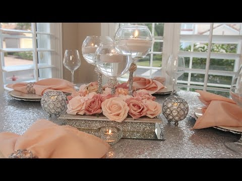 DIY Dollar Tree Glam Candle Holder|Bling Wedding Centerpiece