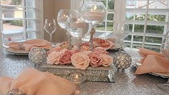 DIY Dollar Tree Glam Candle Holder|Bling Wedding Centerpiece
