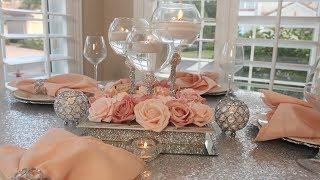 DIY Dollar Tree Glam Candle Holder Bling Wedding Centerpiece