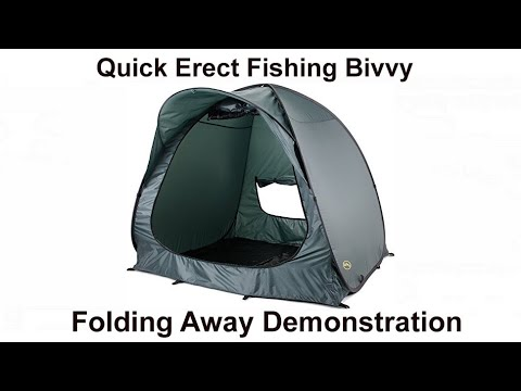 Folding away the Quick Bivvy 2000 Pop Up Sports and Fishing Tent - YouTube & Folding away the Quick Bivvy 2000 Pop Up Sports and Fishing Tent ...