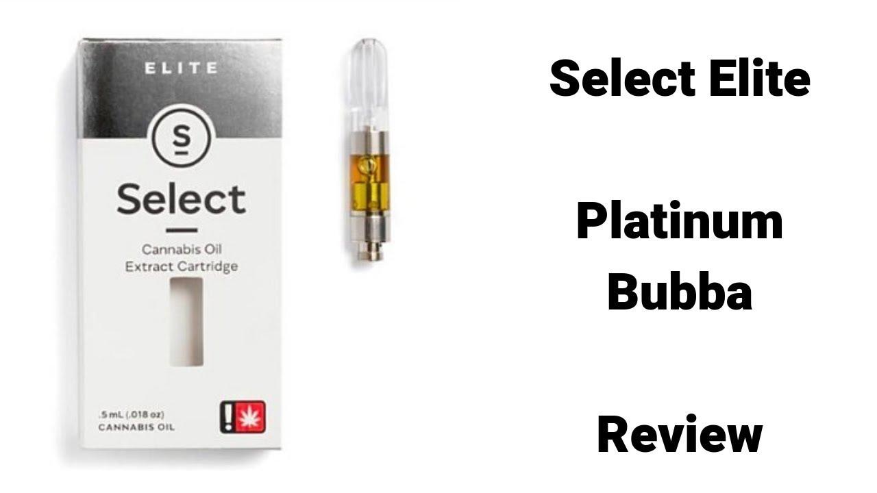 Select Elite Platinum Bubba Marijuana Cartridge Review