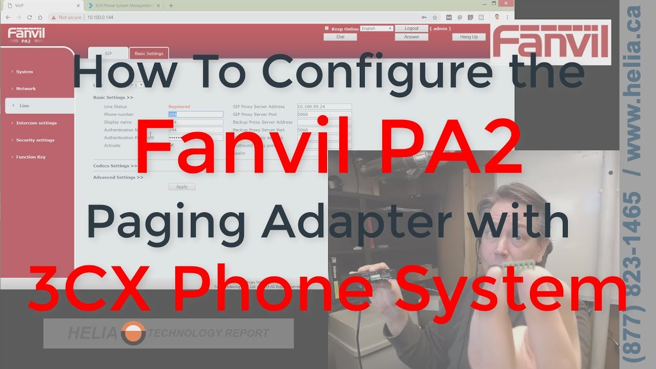 How To Configure a Fanvil PA2 Paging Adapter with 3CX Phone System