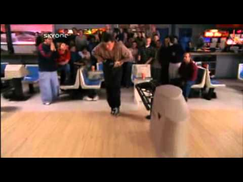 Hal bowling the perfect strike like a boss