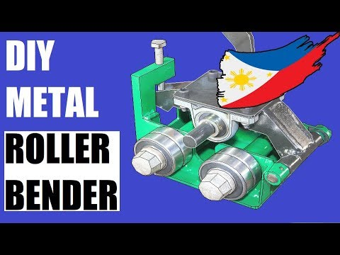 Homemade Metal Roller Bender DIY