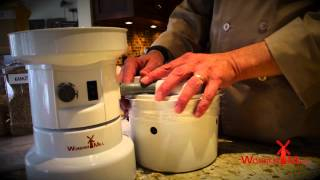 Chef Brad demonstrates WonderMill flour bagger