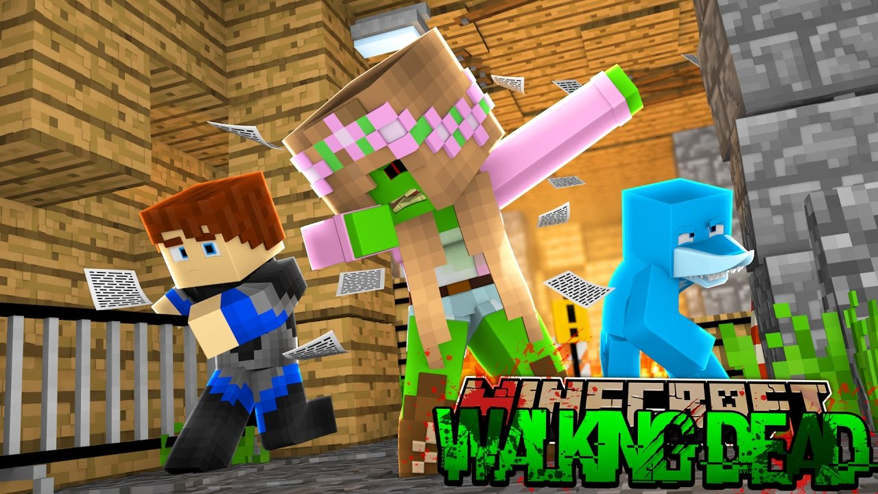 Minecraft The Walking Dead : LITTLE KELLY ZOMBIE IS DABBING?! (Roleplay)