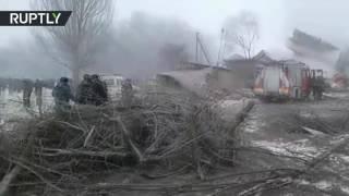 Авиакатастрофа в Киргизии: в результате крушения Boeing 747 погибли более 30 человек(Более 30 человек погибли в результате падения грузового самолёта Boeing 747 на жилой посёлок под Бишкеком. Среди..., 2017-01-16T07:39:52.000Z)