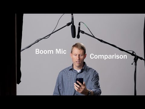 Dialogue Boom Mic Blind Comparison for Sit-Down Interviews or Talking Head